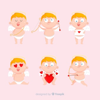 Collection de cupidon blonde valentine