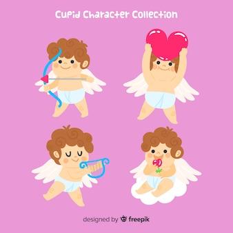 Collection de cupidon saint valentin dessinée à la main