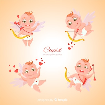 Collection de cupidon saint valentin dessinée à la main