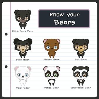 Collection cute bear