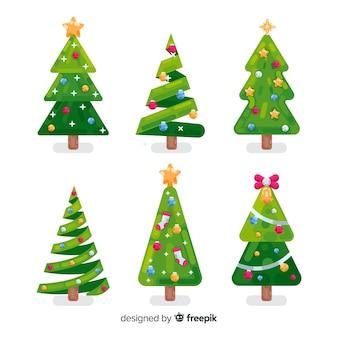 Collection d'arbres de Noël