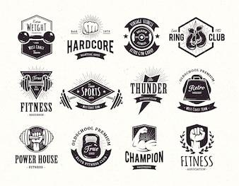 Collection d'emblèmes rétro