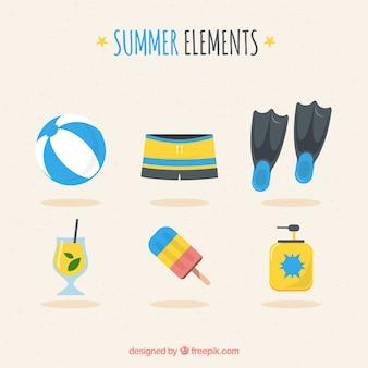 Collection d'été avec des éléments de plage