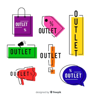 Collection d'étiquettes Outlet