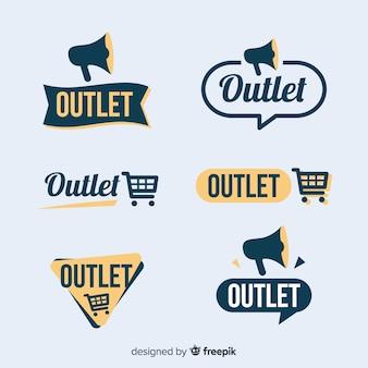 Collection d'étiquettes Outlet