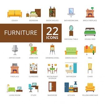 Collection d'icônes de meubles