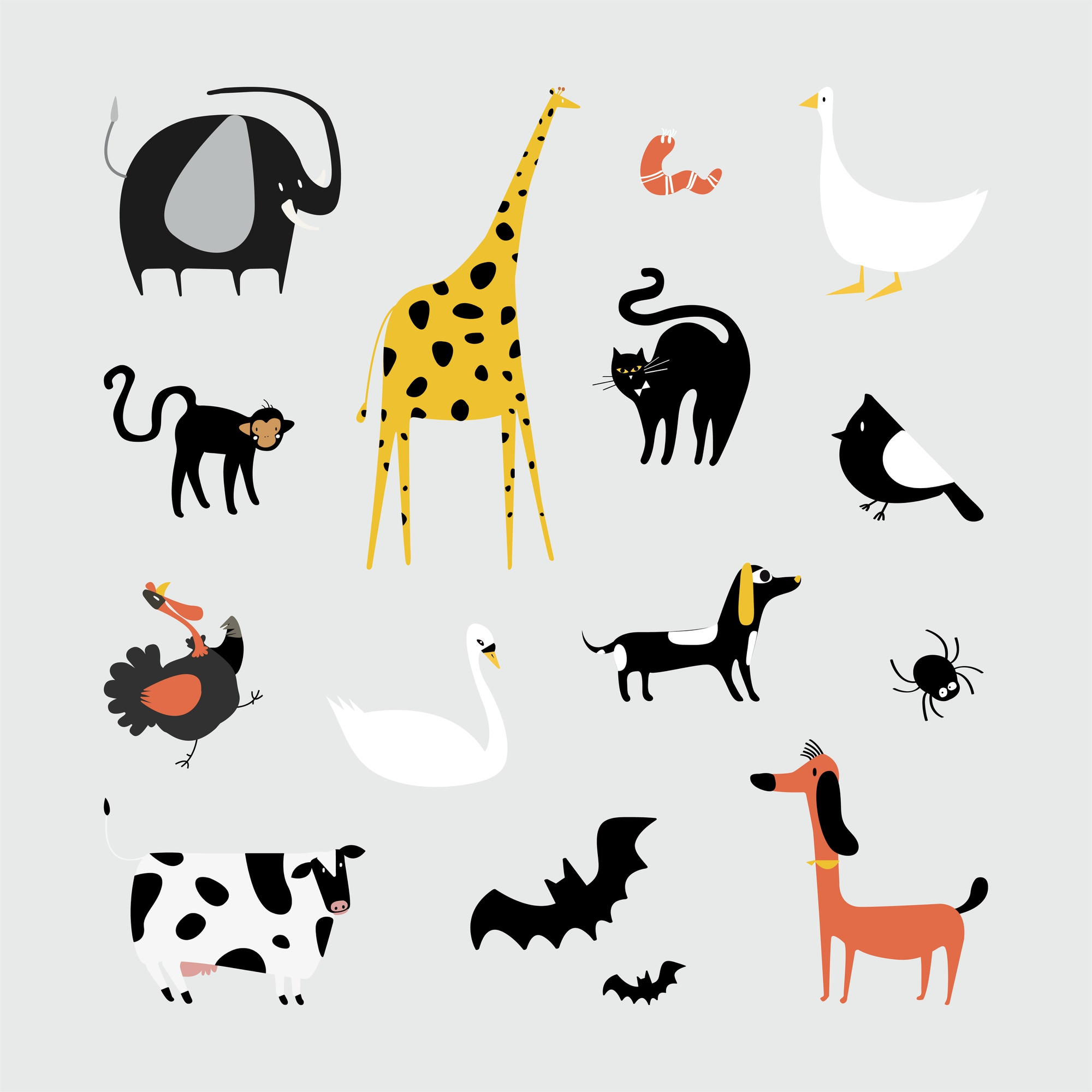 Collection d'illustration d'animaux mignons