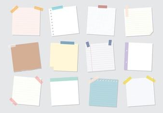 Collection d'illustrations de notes autocollantes