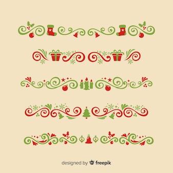 Collection d'ornements de Noël avec style vintage