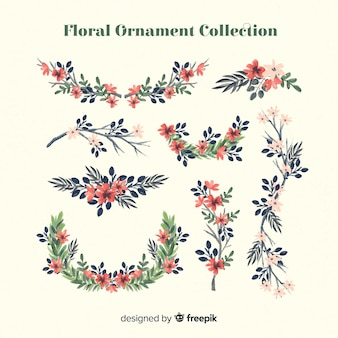 Collection d'ornements floraux