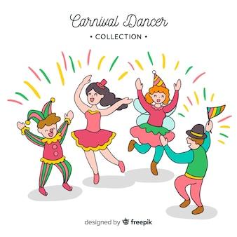 Collection de danseuses de carnaval