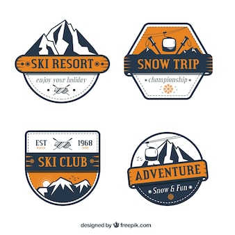 Collection de badge de ski