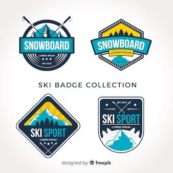 Collection de badges de ski