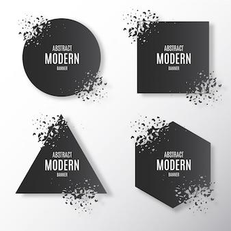Collection de bannière moderne cassée