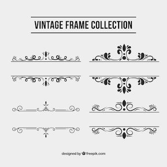 Collection de cadres dans le style vintage