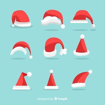 Collection de chapeaux de père Noël