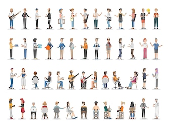 Collection de diverses personnes illustrées