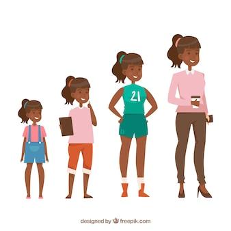 Collection de femmes noires de différents âges