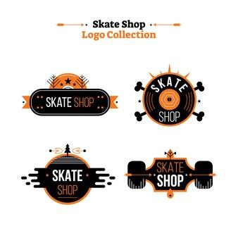 Collection de logo vectoriel de magasin de skate