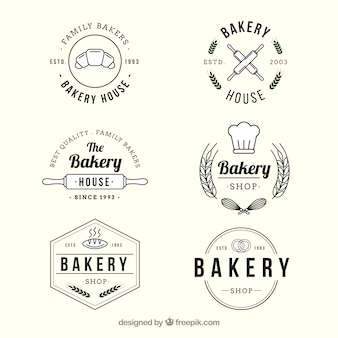 Collection de logos de boulangerie dans le style vintage