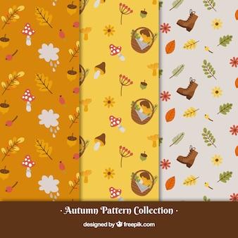 Collection de modèles automne avec la nature