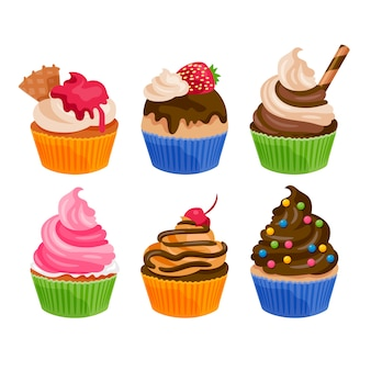 Collection de muffins