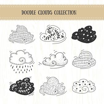Collection de nuages doodle