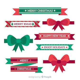 Collection de rubans de Noël