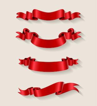 Collection de rubans rouges