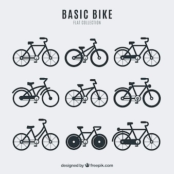 Collection de vélo dans un design plat