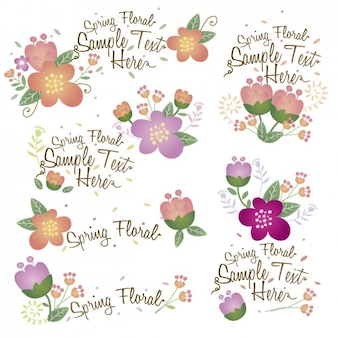 Collection de décorations florales