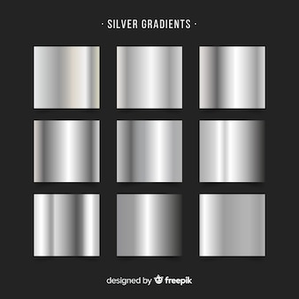 Collection de dégradé d'argent