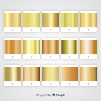 Collection dégradé doré