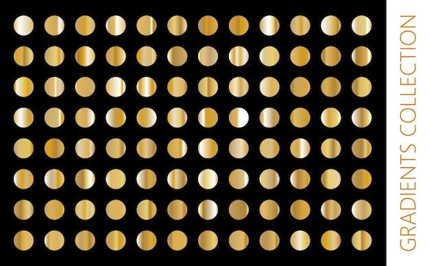 Collection de dégradé de métal doré et ensemble de texture de feuille d'or