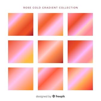 Collection dégradé d'or rose
