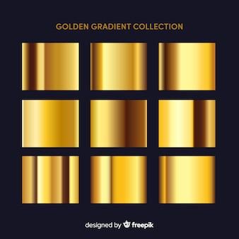 Collection de dégradé d'or