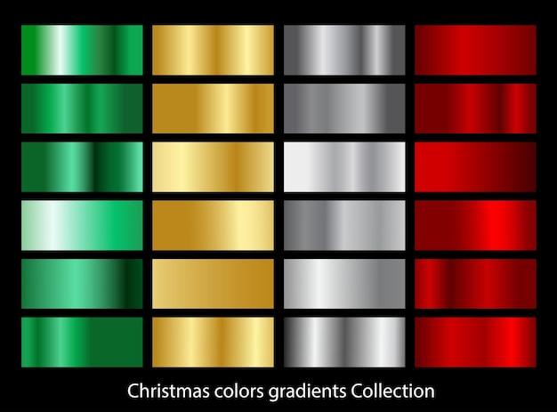 Collection de dégradés de couleurs de noël.