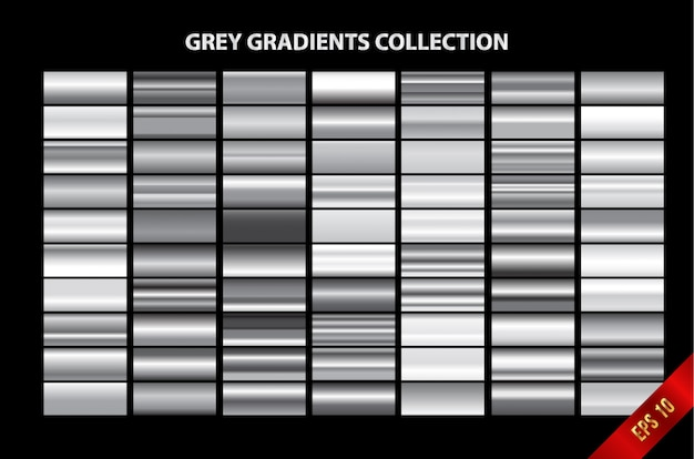 Collection de dégradés de gris