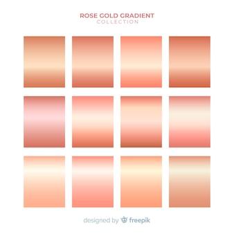 Collection de dégradés d'or rose brillant