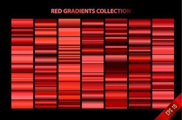 Collection de dégradés rouges