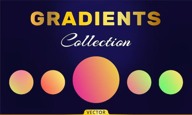 Collection de dégradés de vecteur