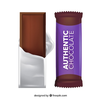 Collection de délicieuses tablettes de chocolat