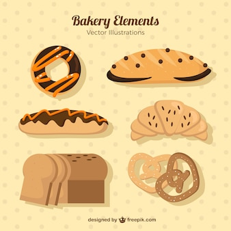 Collection de délicieux produits de boulangerie