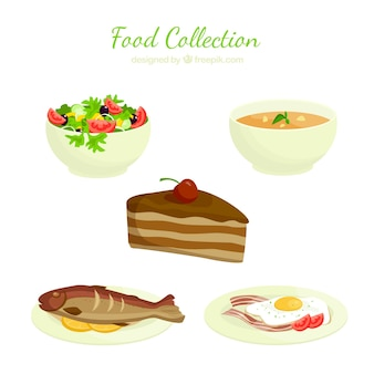 Collection delicious food