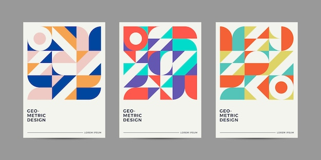 Collection de design de couverture rétro