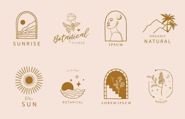Collection de design de ligne avec des concepts créatifs