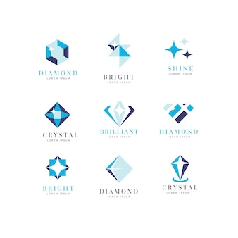 Collection de design de logo diamant