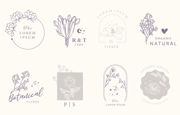 Collection de design occulte de beauté avec géométrique