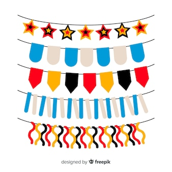 Collection de design plat oktoberfest guirlande