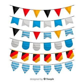 Collection de design plat oktoberfest guirlande